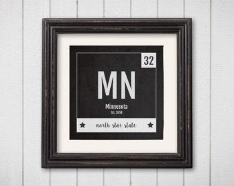 Minnesota poster   Etsy