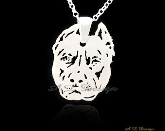 Pitbull dog necklace your pet pendant tagette sterling sterling silver pitbull necklace pitbull necklace pitbull pendant silver pitbull pitbull jewelry aloadofball Choice Image