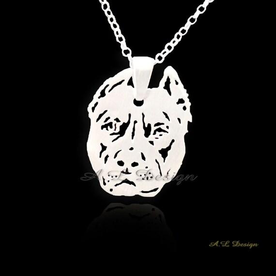 Pitbull collar de plata esterlina pitbull joyas colgante de aloadofball Gallery