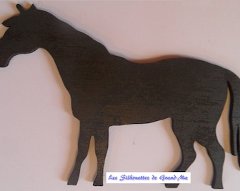 One horse, wooden wall decoration