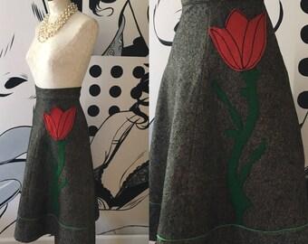 Felt Vintage Tulip Skirt
