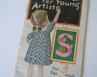 Singer Drawing Book for Young Artists Sewing Machines