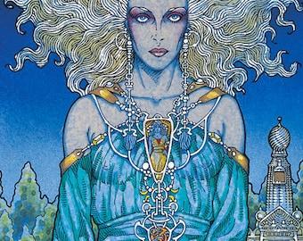 Celtic Irish Fantasy Art 'Ethne Mother Of Lugh' Signed Open Edition Print 16x11. Ireland.