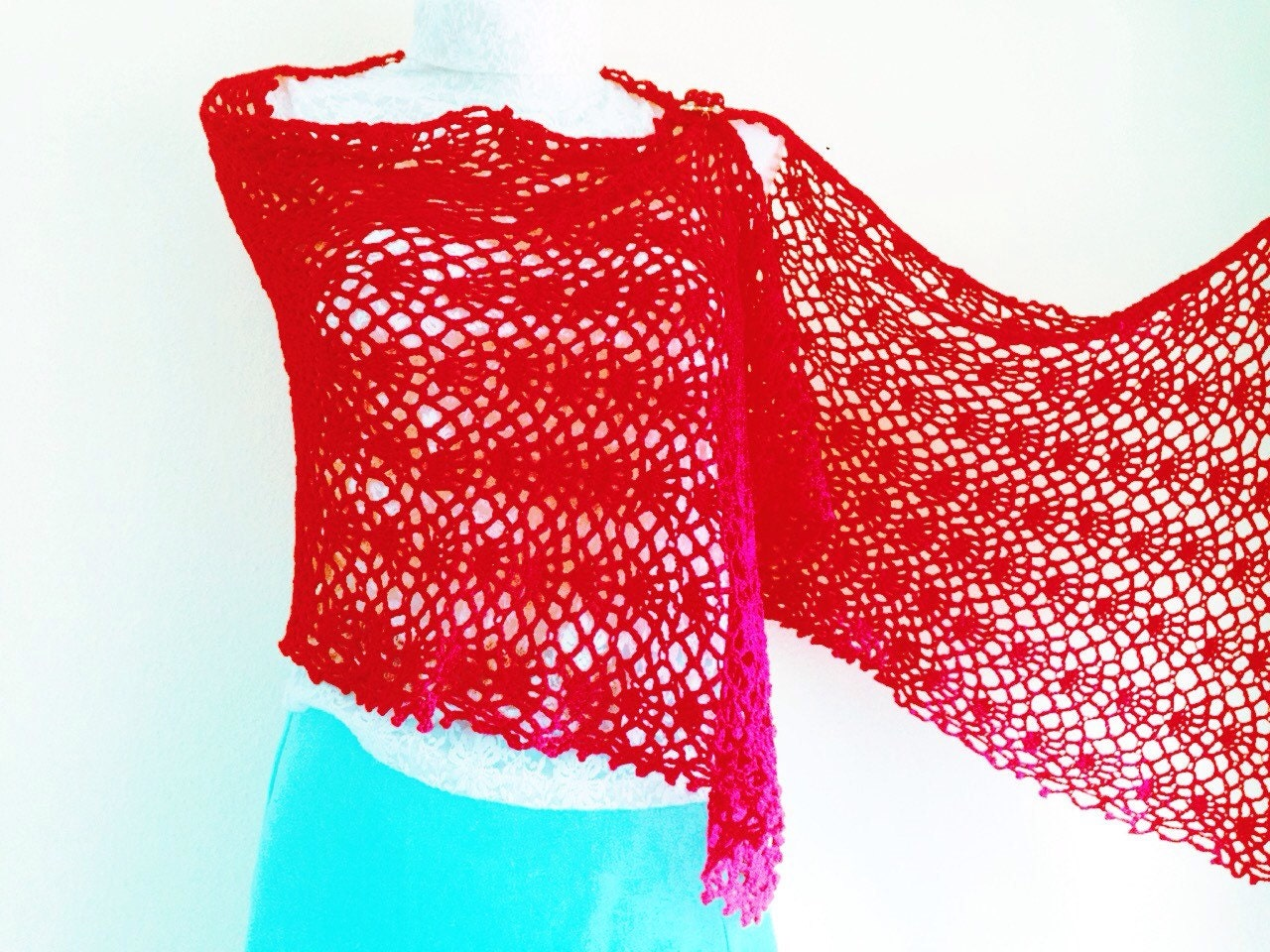 Crochet Pattern Easy Wrap Lace tutorial, Shawl Spring Crochet ...