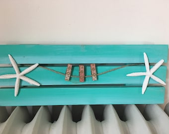 BEACH PALLET FRAME Beah House Decor Nautical Wood Pallet Feame Coastal Home  Decor Beach House Wall