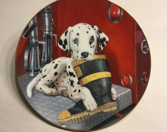 "Dalmatian Plate ""Caught in the Act"""