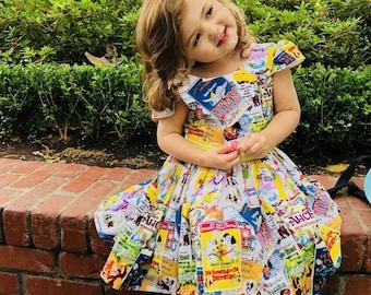 Disney print dress toddler
