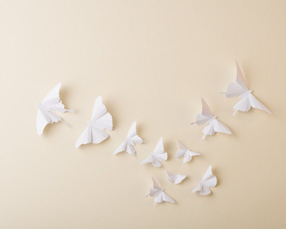 & Paper Butterflies: 3D Butterfly Wall Art for Nursery Baby