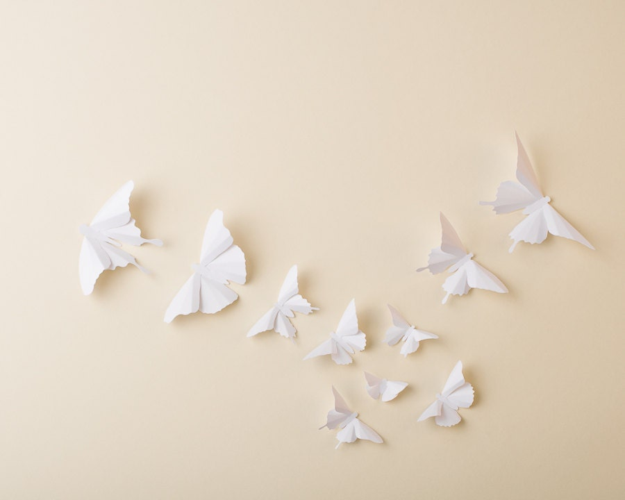 Paper Butterflies: 3D Butterfly Wall Art for Nursery Baby