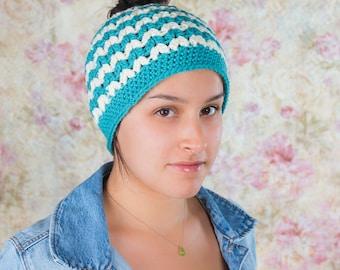 Messy bun hat, Messy mom bun hat, Messy bun beanie, Messy bun crochet hat, Crochet ponytail hat, Knit messy bun hat, Knit ponytail hat, Hat