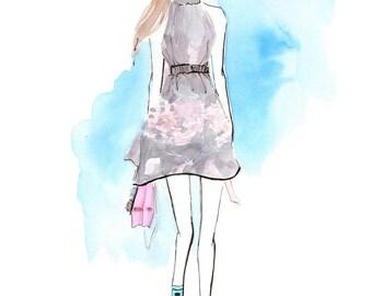 Fendi Spring 2017 5 Art Print, Fashion Illustration, Fashion Sketch, Watercolour Illustration, Fashion Art