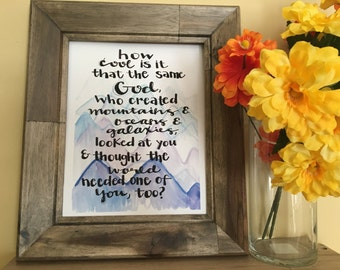 How Cool is It Quote, Inspirational Quote Art, Religious Quote Art, Kid Room Art, Kid Room Decor, Handmade Watercolor Art Print