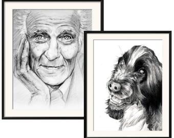 Custom Pencil Portrait, Photo Realistic Portrait, Hand Drawn Portrait, Personalized Portrait, Portrait Comission, Custom Portrait
