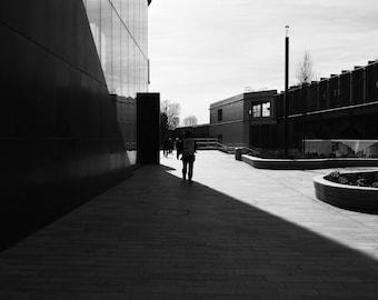 Black And White, Photography, Print, Street Photography, Urban, Harsh Light, Street Photo, City Print, BW Print, White City, London, England
