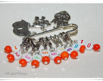Stitch marker numbers crochet marker counter marker removable Stitch marker progress marker