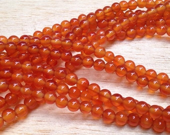 4mm Carnelian Gemstone Beads Strands (G 407)