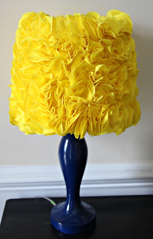 Bright yellow ruffle lampshade lamp shade ruffles great for zoom aloadofball Images