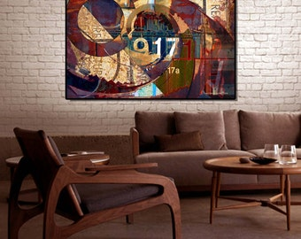 "Acrylic Print - ""17a"" -Contemporary Abstract Photography, Rusted Metal Art, Abstract Print, Geometric Abstract, Modern Art"