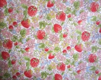 New!! Kobayashi Cotton brood Fabric strawberry 108x100cm made in JAPAN cute