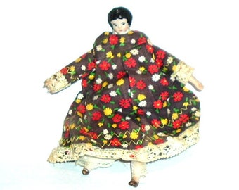 Miniature CERAMIC GIRL DOLL