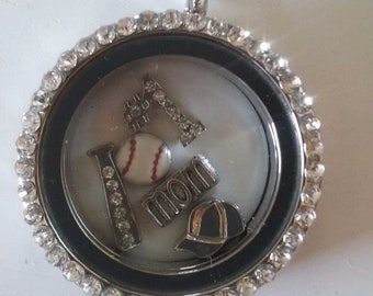 Baseball Mom Locket Pendant Perfect Gift