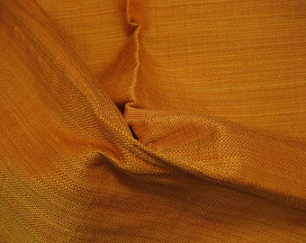 Solid Orange Silk Linen Tweed Lee Jofa DESIGNER FABRIC SAMPLE Gibraltar with lots of extras