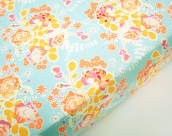 Floral Crib Sheet - Orchard Blossom Spring - Fitted Crib Sheet