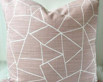 Blush Geometric Pillow Cover - fits 20 x 20 insert
