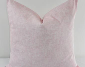 Bella Pink  & White  Pillow cover. Jackson Print . Throw pillow cover. Cotton.Sham Pillow case. Select your size.