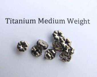 Nickel Free 20 pcs 10 Pairs Titanium Earring Backs, Clutches, Ear Nuts, Hypoallergenic