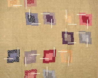 Patchwork Quilt - colorful Japanese Chopstix throw
