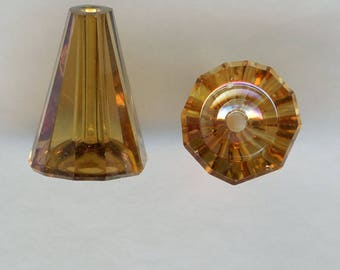 "5540 12 co *** 2 Swarovski ""Artemis beads"" 12 mm crystal copper"