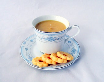 Chai Tea, tea cup candle, coffee cup candle, cookie wax melts, drink candle, teacup candle, unique gift, unique candle, novelty candle