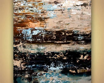 Canvas Art - Stretched, Embellished & Ready-to-Hang Print - Rust - Art by Osnat