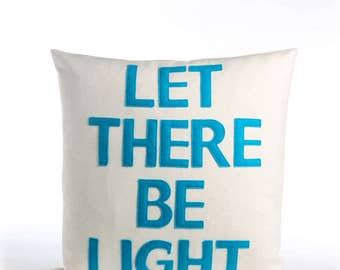 """NEW! throw pillow, decorative pillow, """"Let there be light"""" 16X16 inch throw pillow, NEW!"""