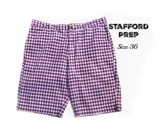 men's shorts - men's plaid shorts, casual shorts, men's cotton shorts, summer shorts,  90's shorts, size -36 shorts, # 33