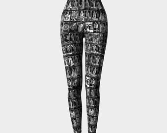 the tarot of mantegna - printed leggings