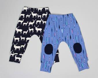 Baby Pants PDF Sewing Pattern - Boys, Girls, Harem Pants, Leggings, Toddler, Kids, Childrens, Clothing, Easy