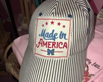 Made in America striped hat