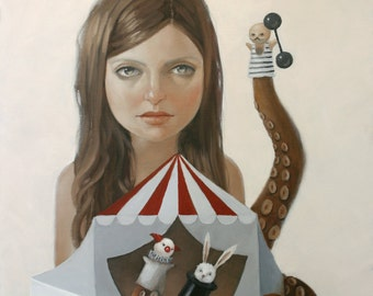 The Puppeteer. Signed Print of an Original Oil Painting