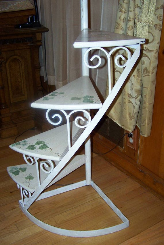 French Provincial Floor Lamp Staircase Plant Stand Wrought