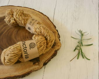 Wool, nylon twist DK, double knit, Hand Dyed, plant dyes, natural dyes, onion skins, yellow yarn