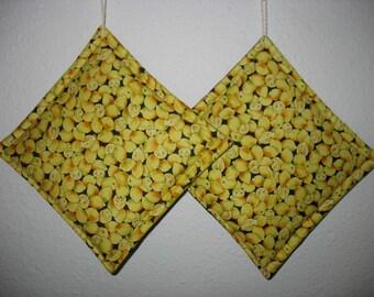 Lemon Pot Holders set of 2