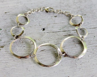 STERLING Silver Bracelet 925 Vintage Modernist
