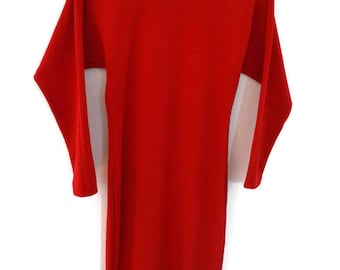 Vintage 90s Sweater Dress XS Red by Kathryn Conover New York Long Sleeve Dress Acrylic Wool Dress Long Red Winter Dress Fitted