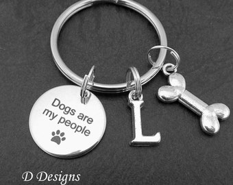 Dog Key Chain, Dog Keyring, Personalised Pet Keychain, Dogs are my People Key Ring, Love my Dog Key Ring,  Gifts for Dog Lovers
