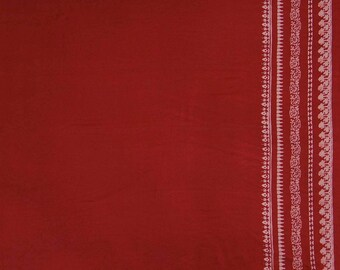 "Printed Cotton Fabric, Indian Decorative Material, Red Fabric, Sewing Crafts, 45"" Inch Dress Fabric By The Yard ZBC8358A"
