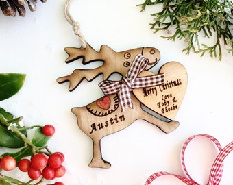 Personalized Christmas  ornament, Personalsied Christmas  decoration , Baby's first Christmas , New baby tree ornament .