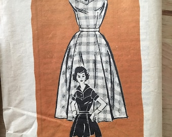 """Vintage 1960's Anne Adams 4683 mail order pattern flared full skirt and blouse with a yoke neck either square or collared Size 14 Bust 34"""""""