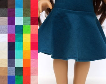 Fits like American Girl Doll Clothes - Skater Skirt, You Choose Color | 18 Inch Doll Clothes